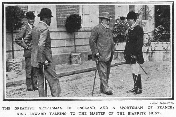 Edward VII with the master of the Biarritz hunt